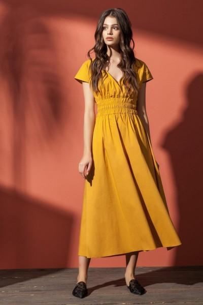 f9bee8313fe Nova Line Платье 5862 горчичный купить в интернет-магазине Фабрика ...